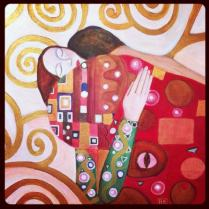 Klimt Inspired Embrace